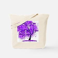 Purple Tree Art Tote Bag