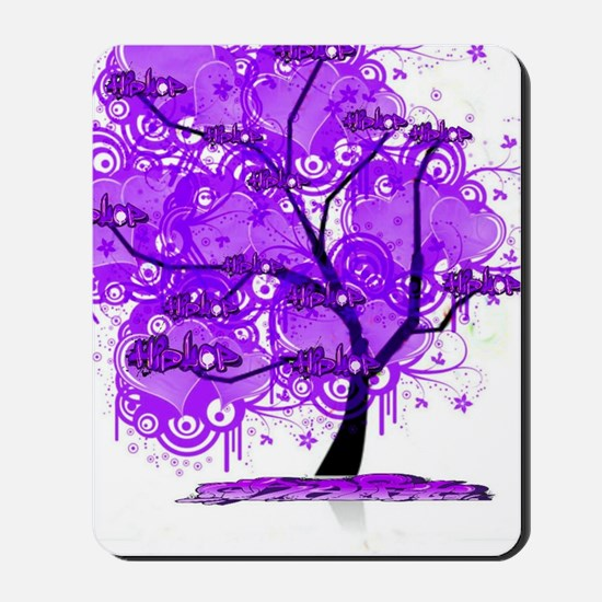 Purple Tree Art Mousepad