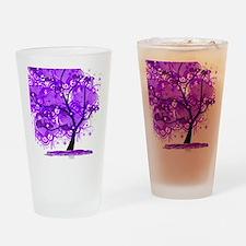 Purple Tree Art Drinking Glass