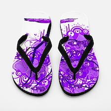Purple Tree Art Flip Flops