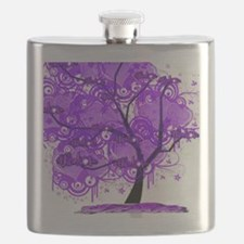 Purple Tree Art Flask