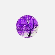 Purple Tree Art Mini Button