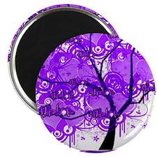 Purple Tree Art Magnet