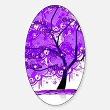 Purple Tree Art Decal