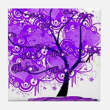 Purple Tree Art Tile Coaster