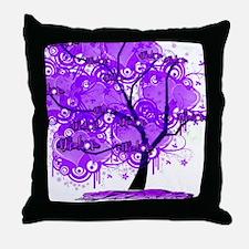 Purple Tree Art Throw Pillow