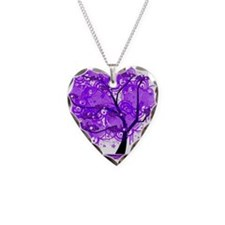 Purple Tree Art Necklace