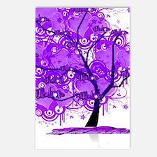 Purple Tree Art Postcards (Package of 8)