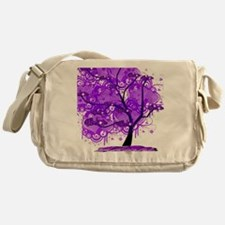 Purple Tree Art Messenger Bag