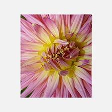 Dahlia Flower Throw Blanket