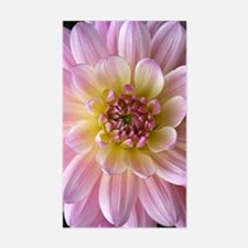 Dahlia Flower Sticker (Rectangle)