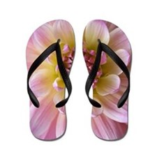 Dahlia Flower Flip Flops
