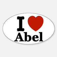 I love Abel Sticker (Oval)