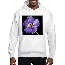 Blue Macro Flower Hoodie