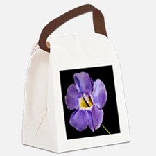 Blue Macro Flower Canvas Lunch Bag