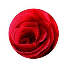 "Red Rose 3.5"" Button"