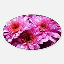 Flowers Sticker (Oval)