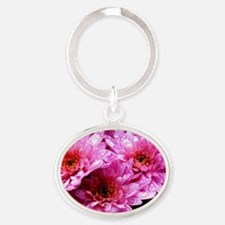Flowers Oval Keychain