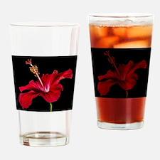 Hibiscus Flower Drinking Glass
