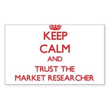 Keep Calm and Trust the Market Researcher Decal