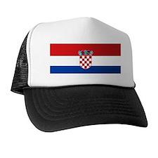 Croatia Flag Trucker Hat