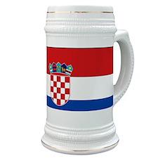 Croatia Flag Stein