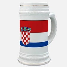 Croatia Flag Stein