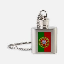 Portugal Flag Flask Necklace