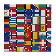 Many Flags Tile Coaster