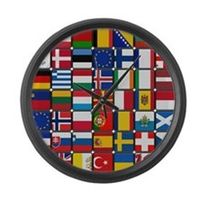 Many Flags Large Wall Clock