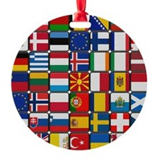 Many Flags Ornament