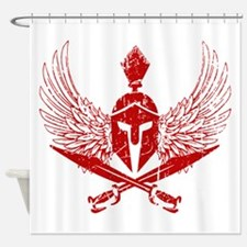 Wings of glory red Shower Curtain