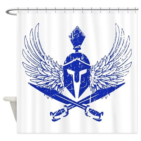 Wings of glory royal blue Shower Curtain
