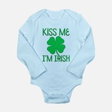 Kiss Me I'M Irish Long Sleeve Infant Bodysuit
