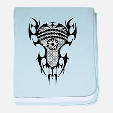 Lacrosse Tribal Head 20XX baby blanket