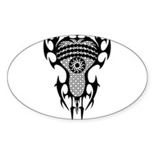 Lacrosse Tribal Head 20XX Decal