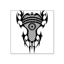 "Lacrosse Tribal Head 20XX Square Sticker 3"" x 3"""