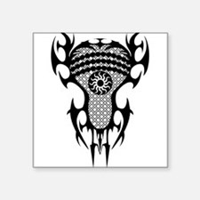"Lacrosse Tribal Head 20XX Square Sticker 3"" x 3"""