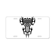 Lacrosse Tribal Head 20XX Aluminum License Plate