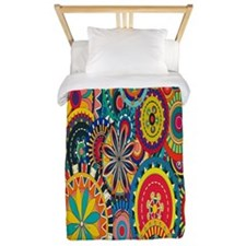Colorful Floral Twin Duvet