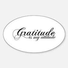 Gratitude is my Attitude Oval Decal