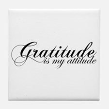 Gratitude is my Attitude Tile Coaster