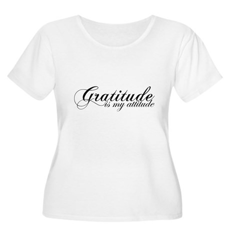 Gratitude is my Attitude Women's Plus Size Scoop N