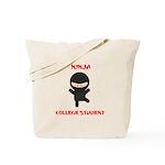 Ninja College Student Tote Bag