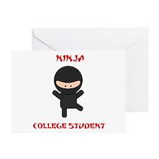 Ninja College Student Greeting Card