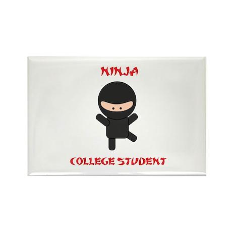Ninja College Student Rectangle Magnet (100 pack)