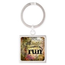 Run by Vetro Jewelry & Designs Square Keychain
