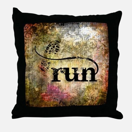 Run by Vetro Jewelry & Designs Throw Pillow