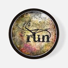 Run by Vetro Jewelry & Designs Wall Clock