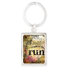 Run by Vetro Jewelry & Designs Portrait Keychain